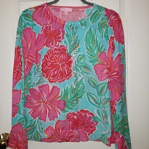 Lilly Pulitzer Floral Print Cardigan - Size L